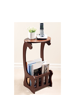 Magazine Side Table With Storage