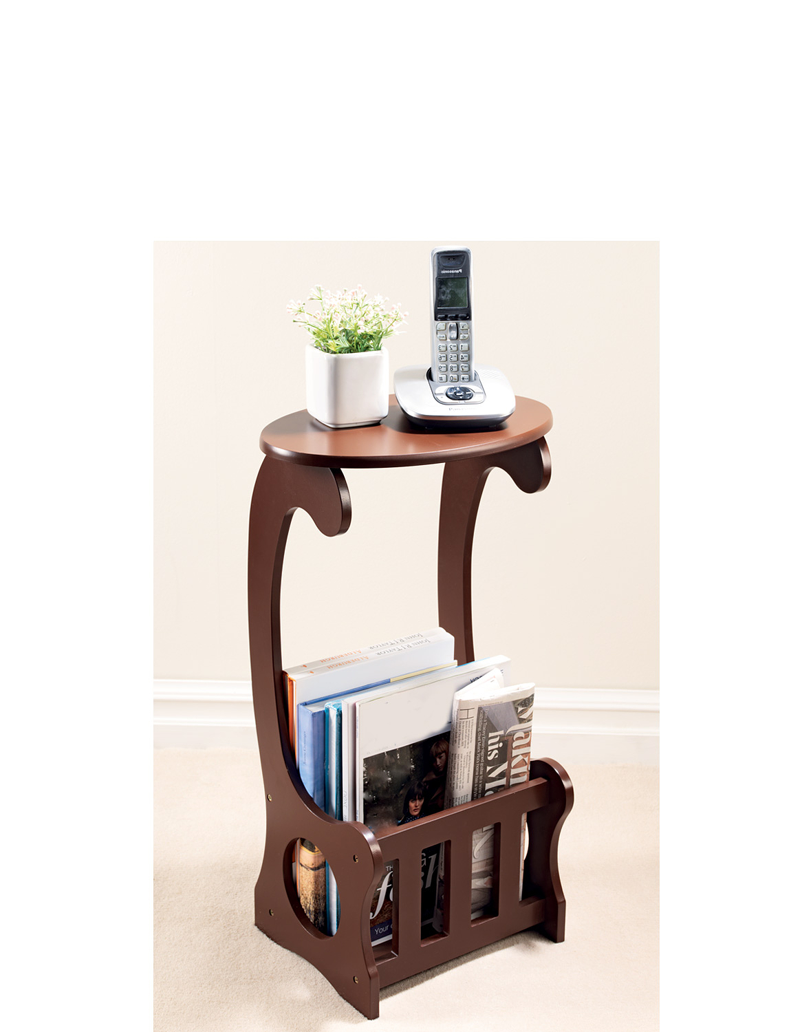 Side Table With Storage - Mahogany