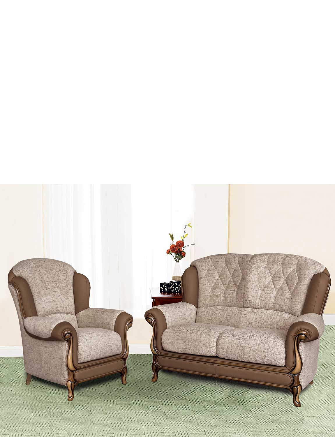 Queen Anne Suite - Two Seater & One Chair
