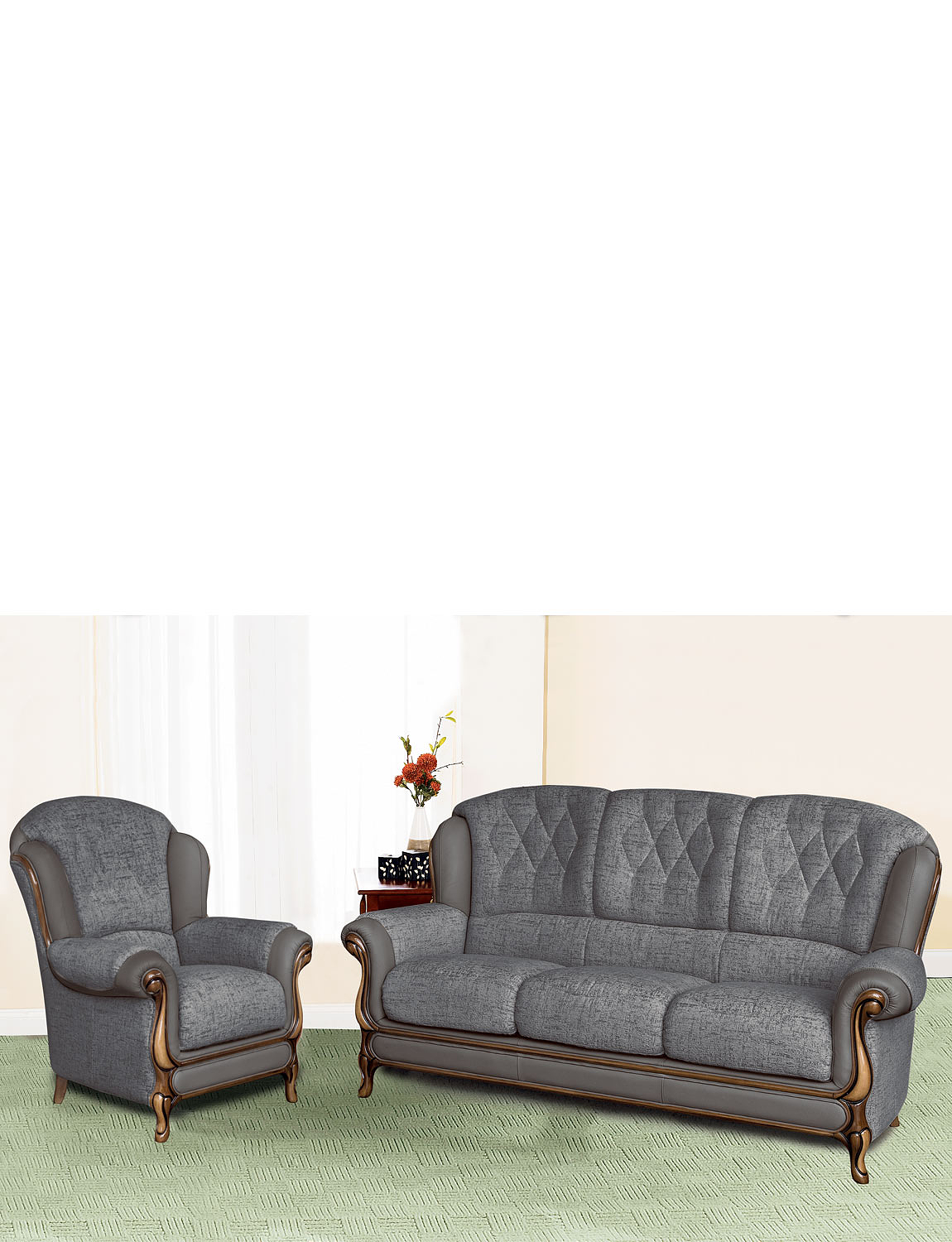 Queen Anne Suite - Three Seater Plus One Chair