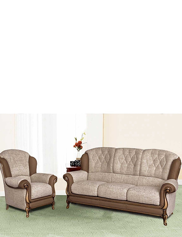 Queen Anne 3 Seater and 1 Chair