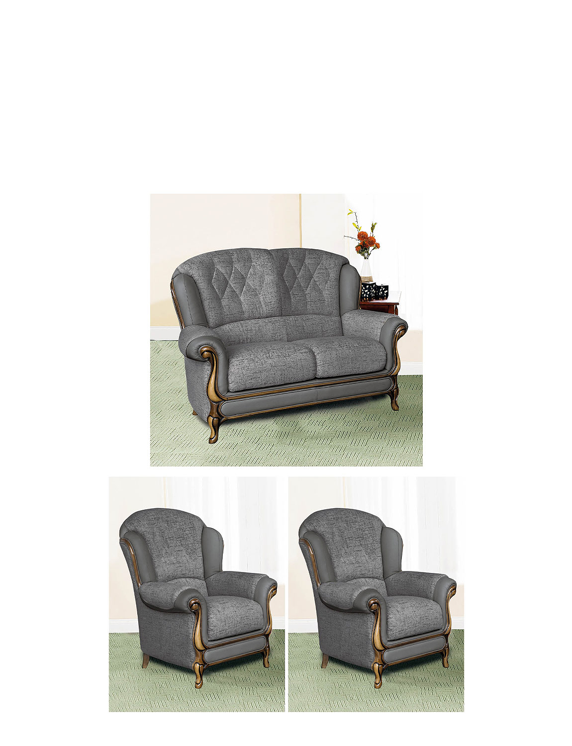 Queen Anne Suite - Two Seater Plus Two Chairs