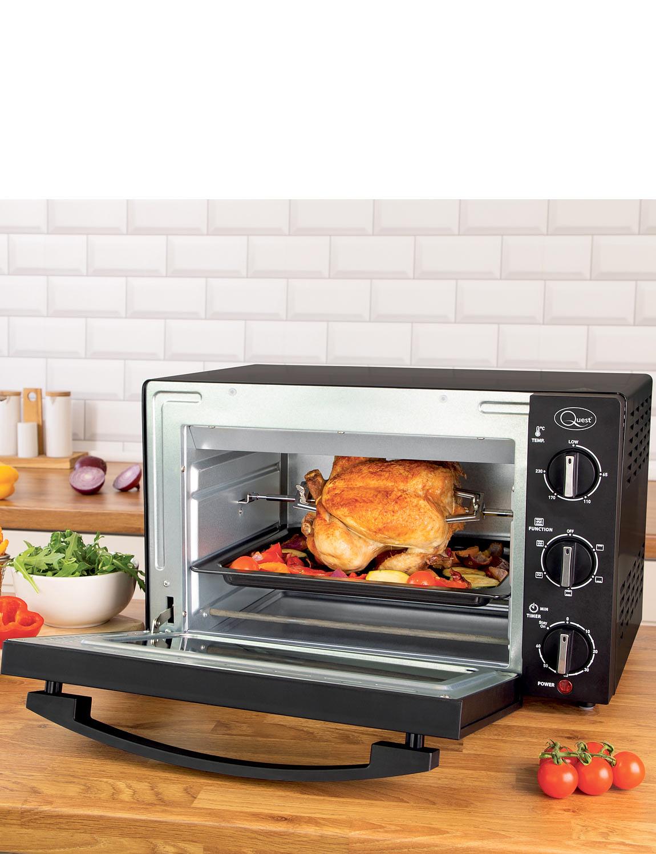 20L Rotisserie Oven - Black