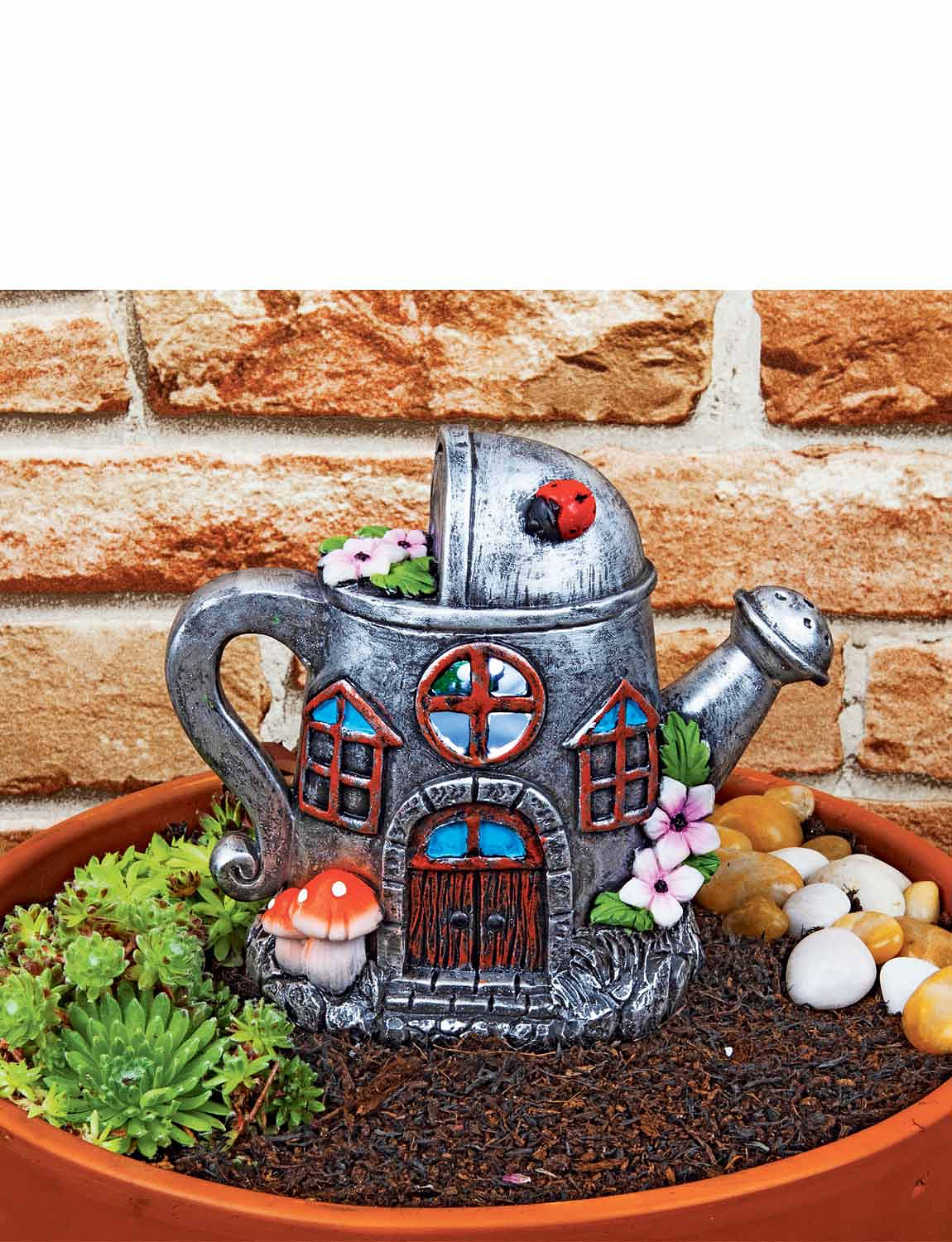 Solar Watering Can House - MULTI
