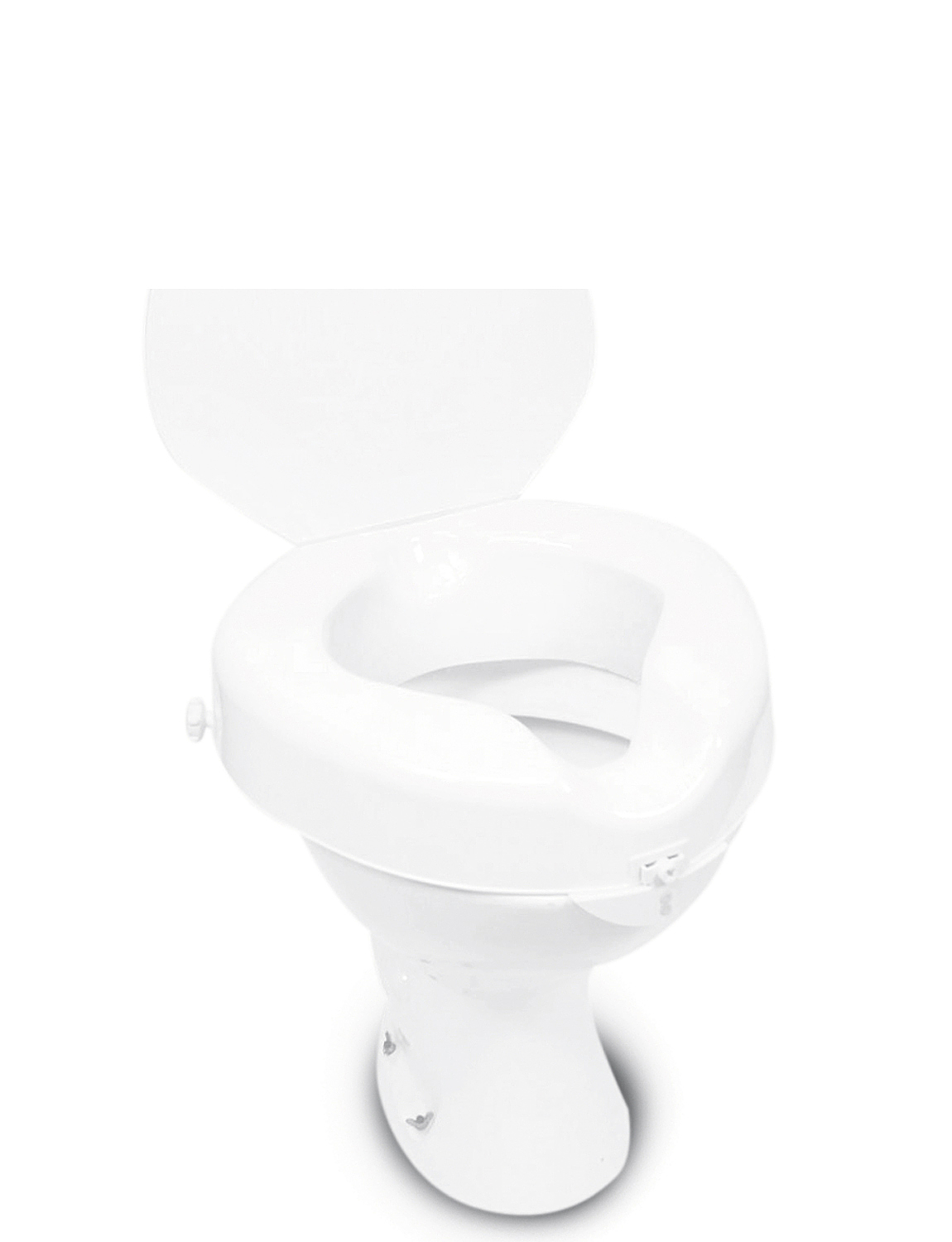 Raised Toilet Seat With Lid - MULTI