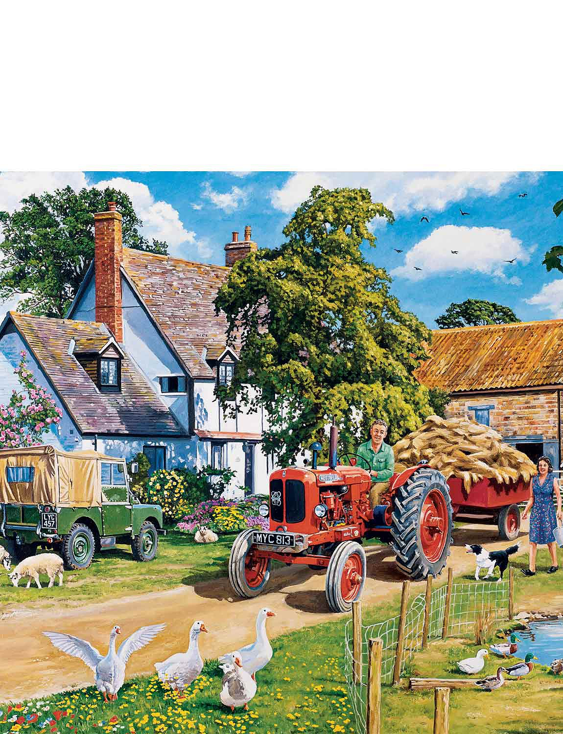 The Farmers Round - Gibsons 4 x 500-Piece Jigsaw