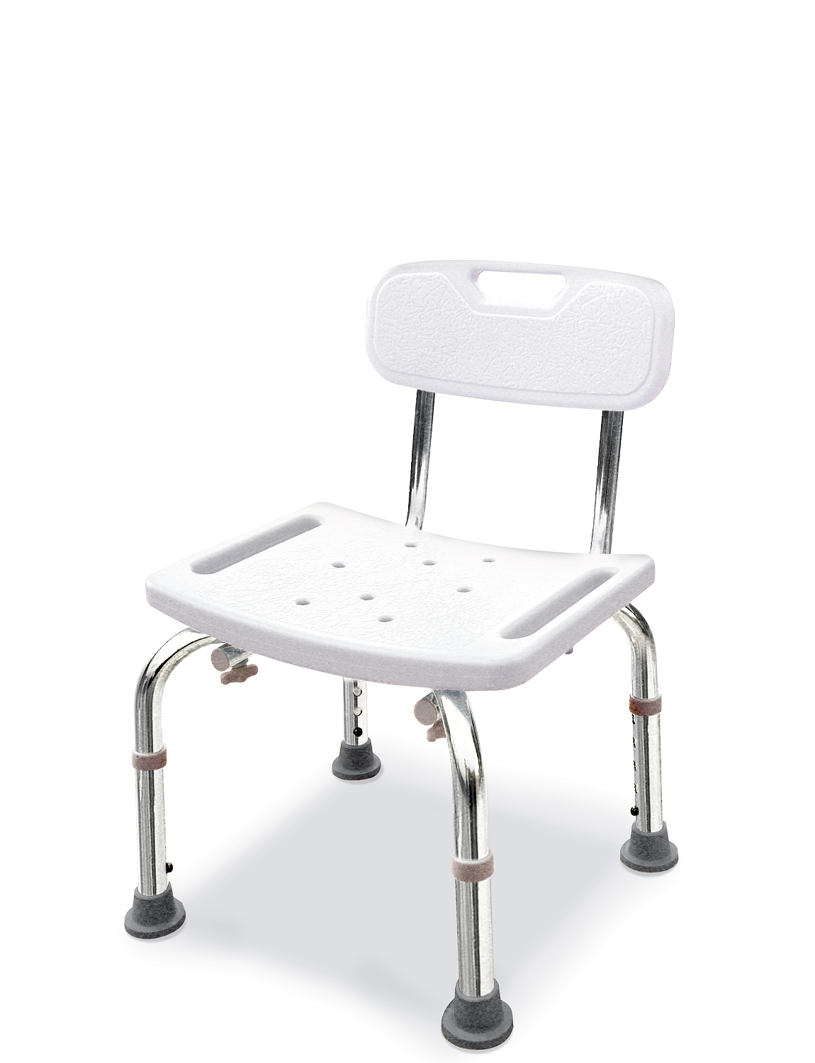 Shower Seat With Back Rest - White