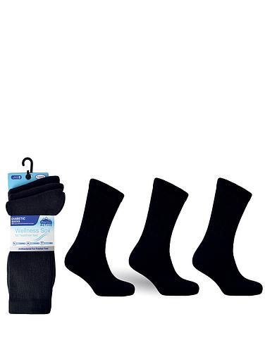 Diabetic Non-Elastic Activity Socks 3 Pack