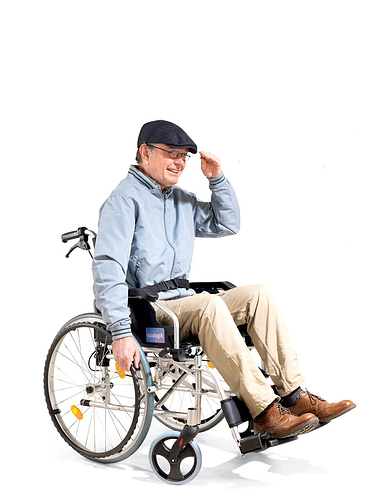 Selp-Propelled Aluminium Wheelchair