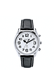 Large Number Radio Controlled Talking Watch from Acctim - Leather Strap