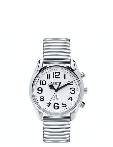 Large Number Radio Controlled Talking Watch - Bracelet Strap