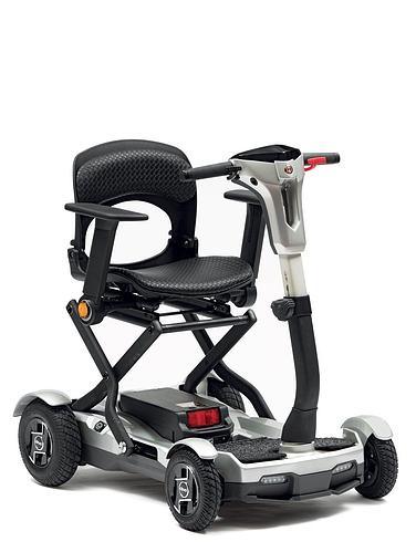 Deluxe Folding Lightweight 4 Wheel Scooter