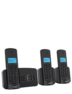 Triple BT Cordless Telephone With Answering Machine
