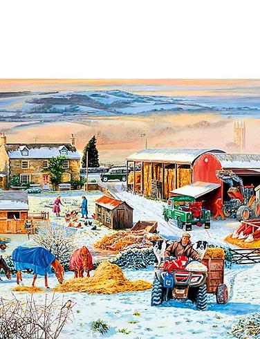 Winter On The Farm 1000 Piece Jigsaw