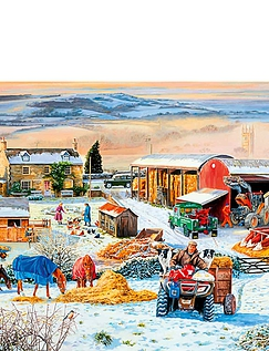 Winter on the Farm 1000pc Jigsaw