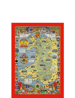 Historical Country Maps  Wales 1000pc Jigsaw