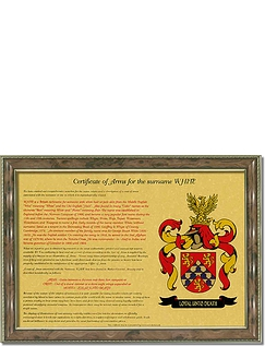 A4 Certificate of Arms Framed