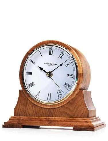 Wooden Barrel Mantle Clock