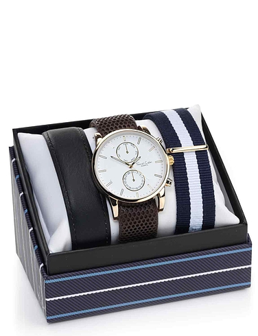 Mens Chronograph Style Watch With Changeable Strap