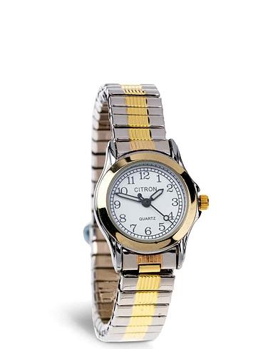Ladies Citron Two Tone Expander Watch