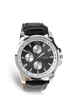 Mens Silver Citron Watch
