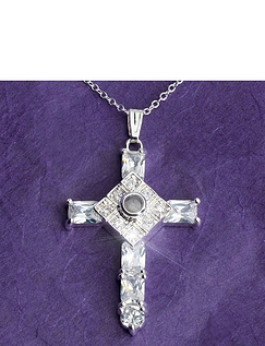 Lords Prayer Cross Pendant