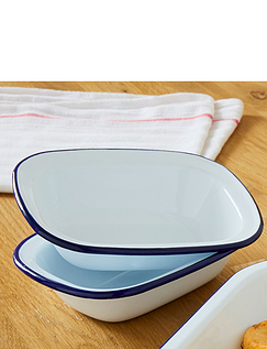 Enamel Set Of Pie Dishes From Falcon