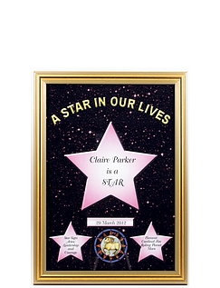 Stars In Our Lives Framed Scroll