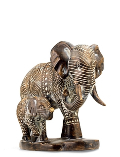 Elephant And Baby Figurine