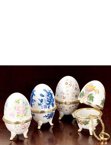 Set of 4 Fabulous Ceramic Eggs