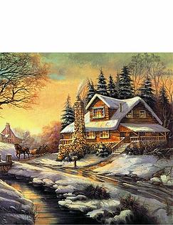 Cottages Through The Seasons 4 x 1000 Piece Jigsaw Set