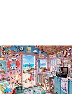The Beach Hut Jigsaw Puzzle