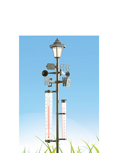5 In 1 Weather Station With Solar Light