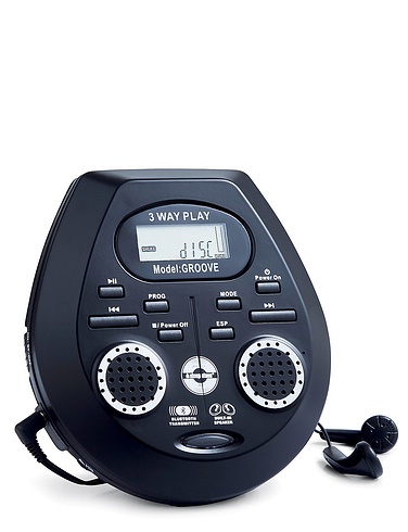 Retro Series Personal CD Player With Speakers