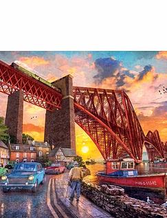 Forth Bridge at Sunset 1000 Pc Jigsaw