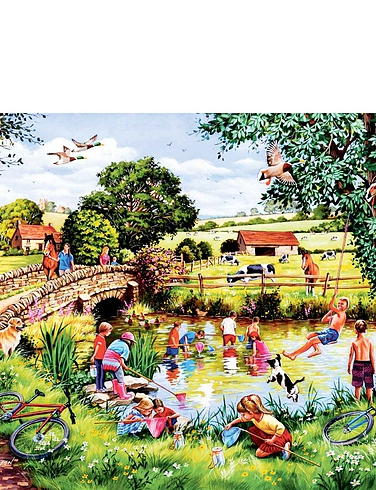 Pond Dippers Jigsaw Puzzle