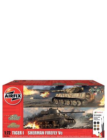 Airfix Tiger v Sherman