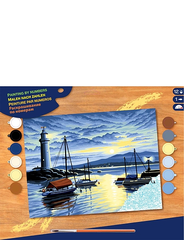 Harbour at Sunrise Paint by Numbers Kit