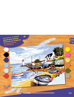 Fishing Village Paint by Numbers Kit