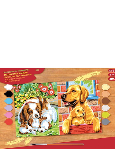 Dogs Twin Pack Paint by Numbers Kit