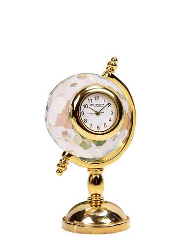 Minature Crystal Globe Clock