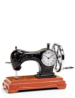 Minature Sewing Machine Clock