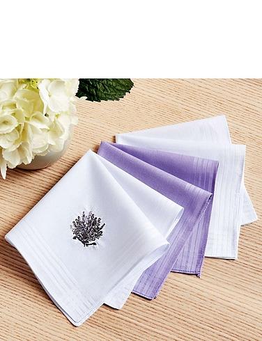 Lavender Embroidered Handkerchiefs