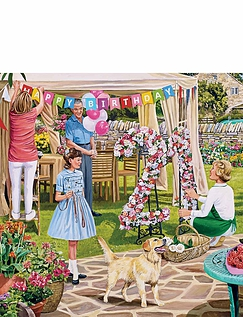 The Florists Round Box Set of Jigsaw Puzzles