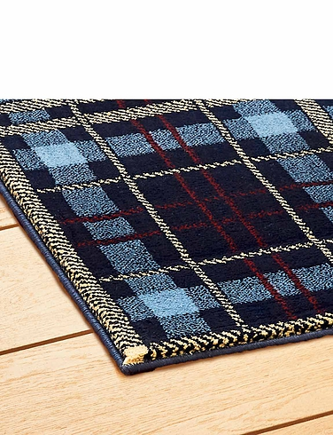 Tartan Wool Effect Rug