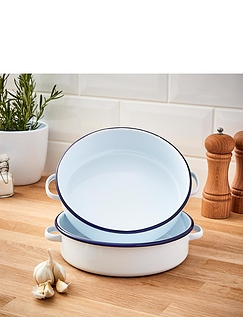 Falcon Enamel Serving Dish with Handles