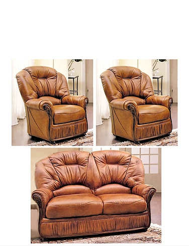 Canterbury 2 Seater Settee and 2 Chairs