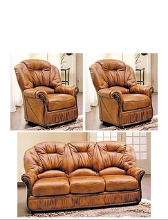 Canterbury 3 Seater Settee and 2 Chairs