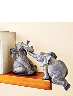 Set of 2 Shelf Elephants