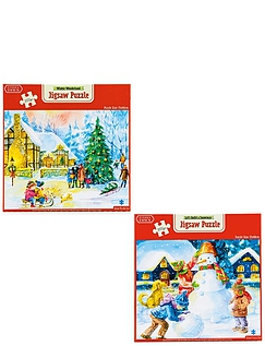 Set of 2 1000pc Christmas Puzzles